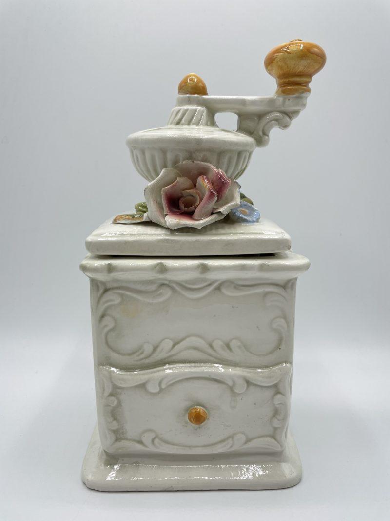boite porcelaine blanc moulin cafe vintage