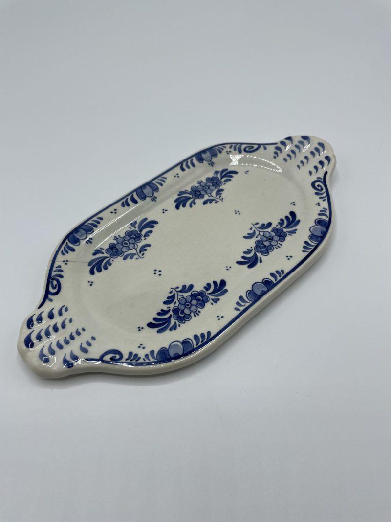plat ovale porcelaine bleu delfts holland vintage