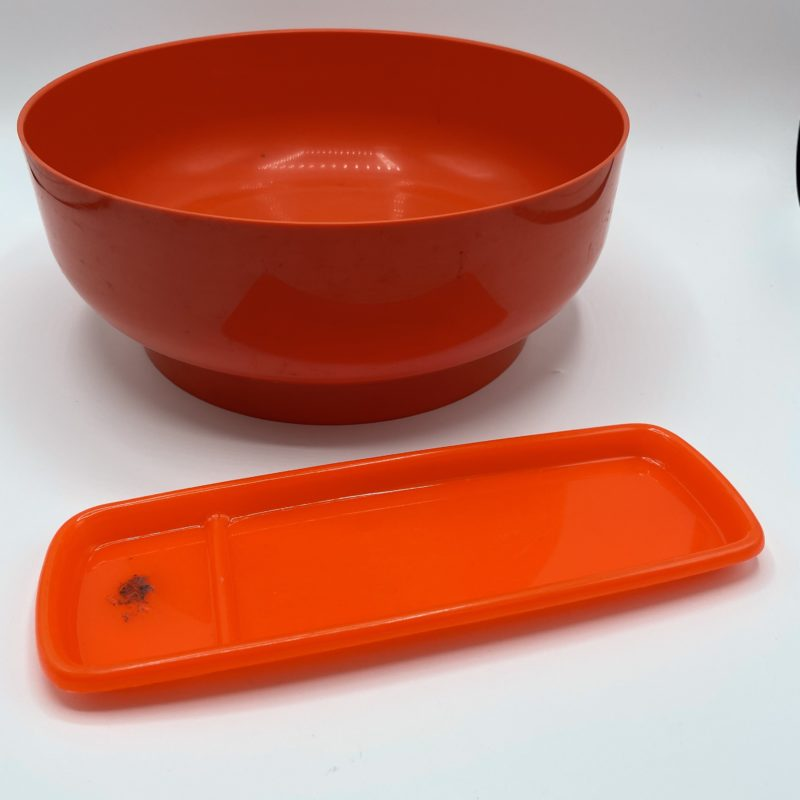 saladier plateau plastique pop orange