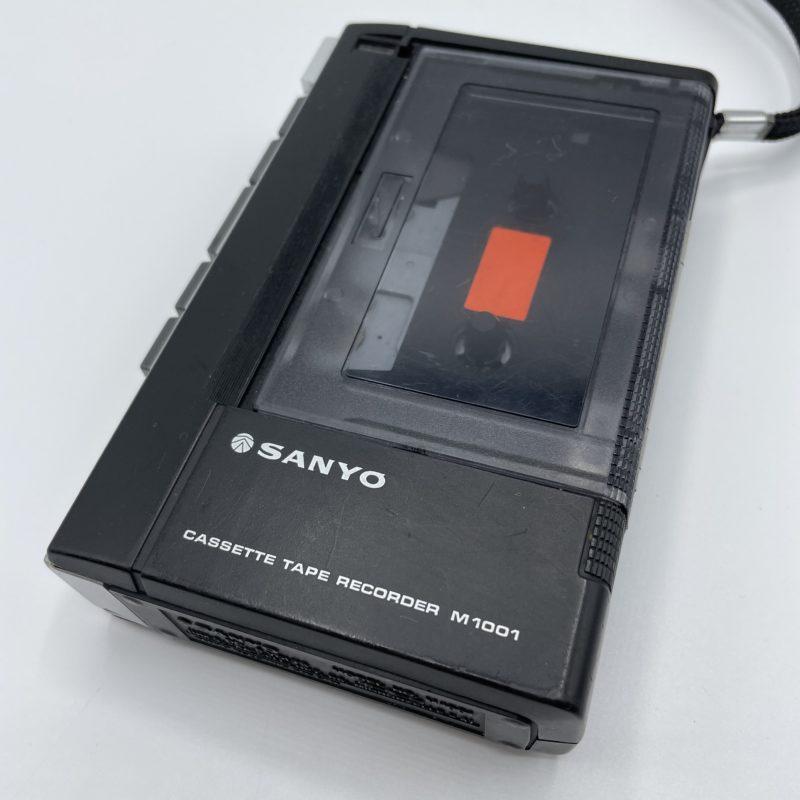 enregitreur cassette vintage sanyo tape recorder m1001