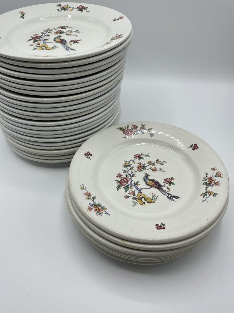 assiette vintage porcelaine pybolan