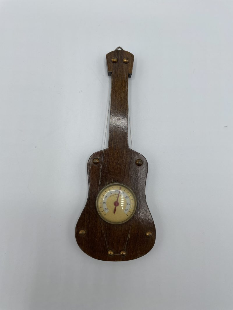 thermometre guitare bois
