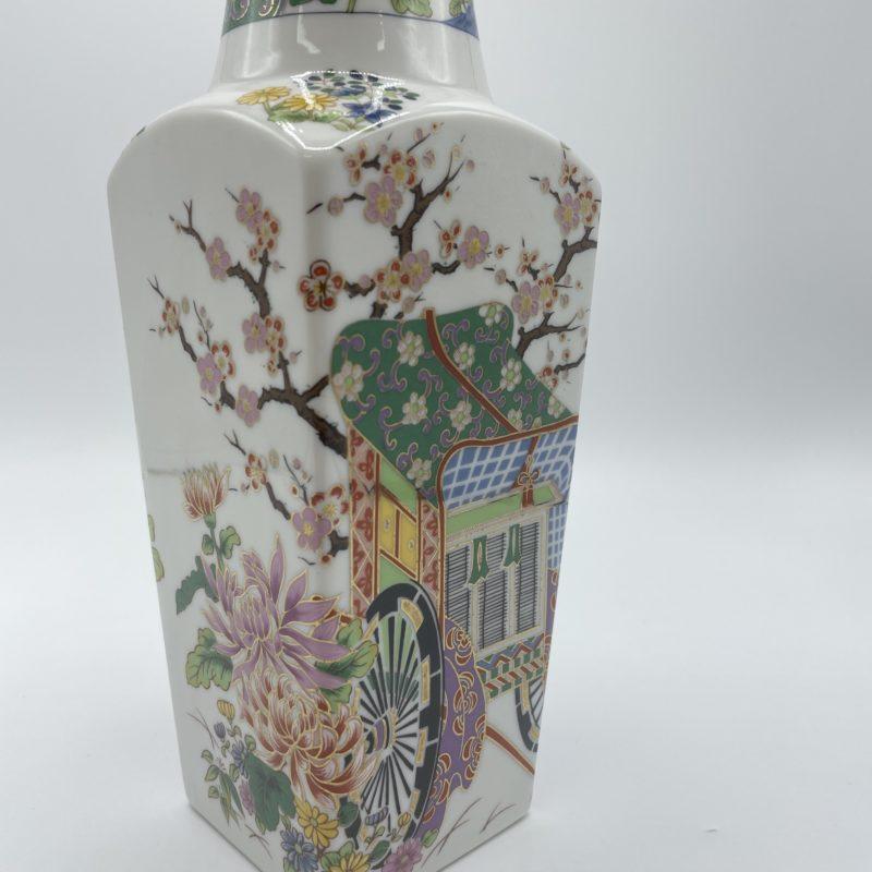 vase porcelaine japon voiture fleur cerisier