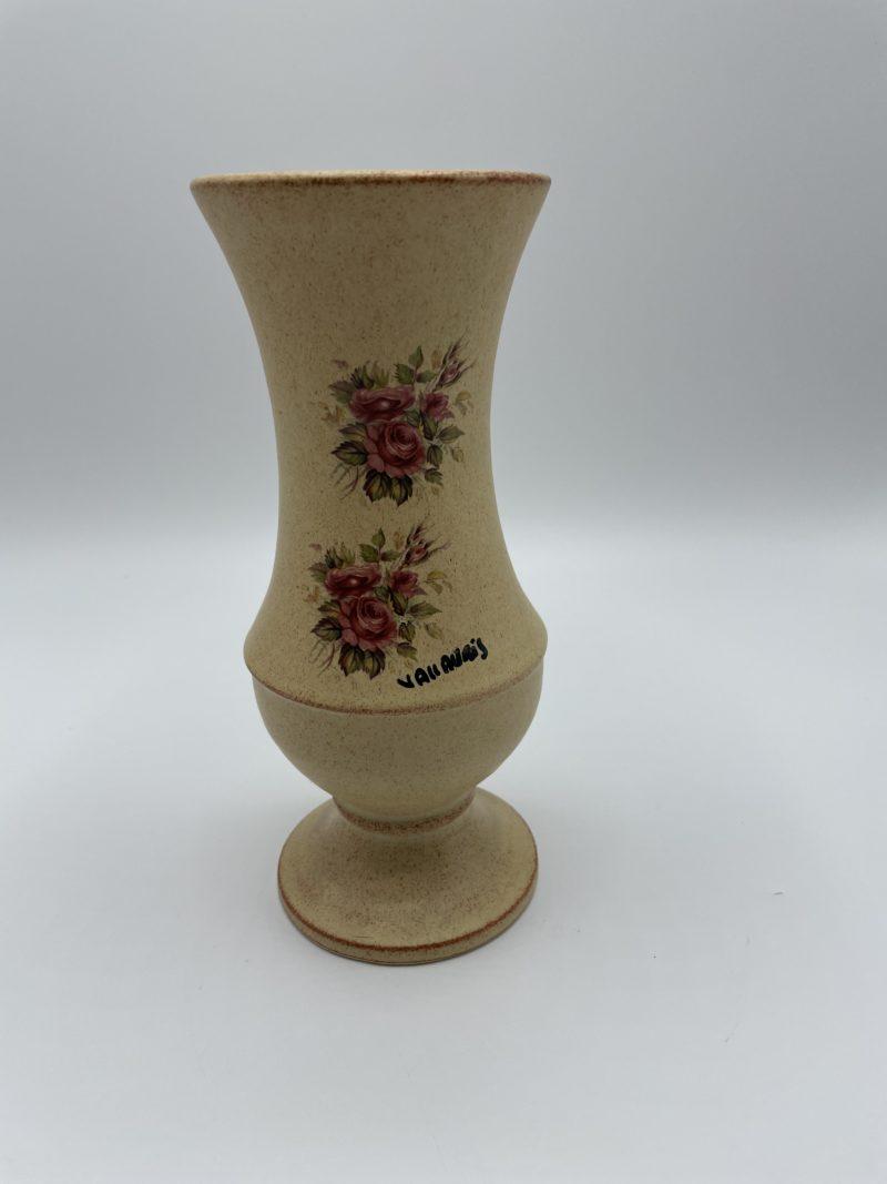 vase vallauris deco roses vintage