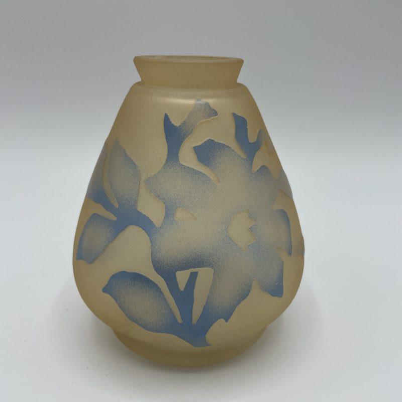 vase pate verre vianne verrerie vintage