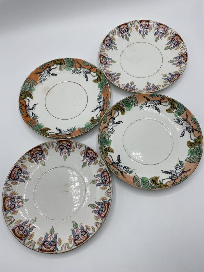 assiettes depareillees vaisselle vintage porcelaine gien