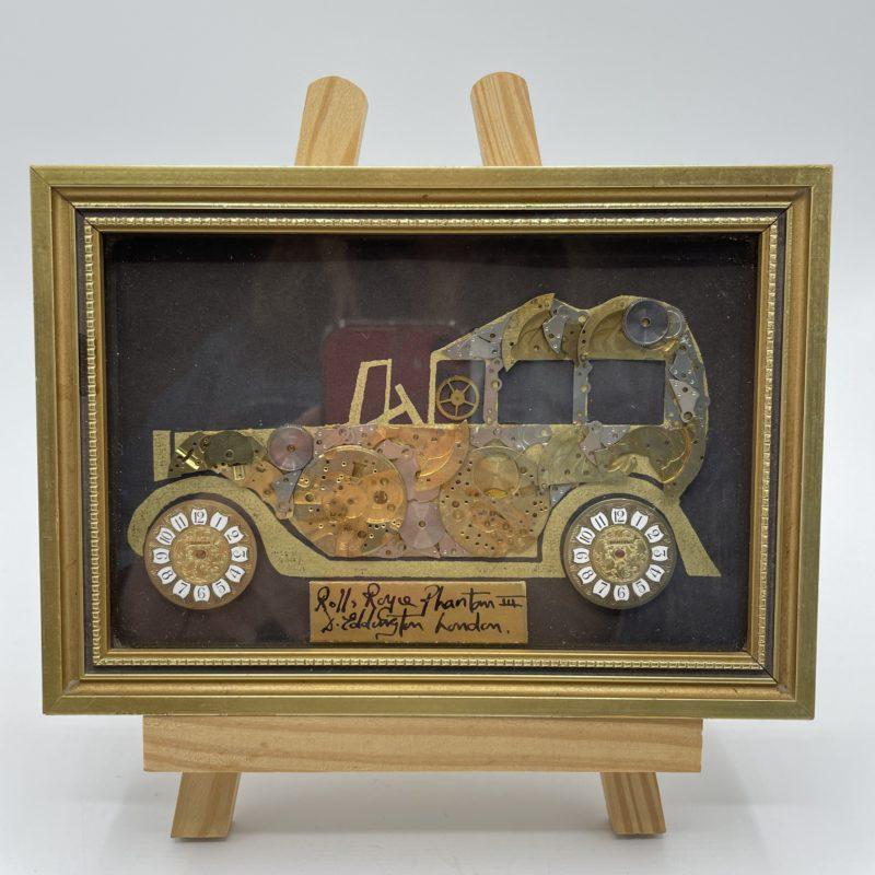 cadre vintage horloge rolls royce collage eddington