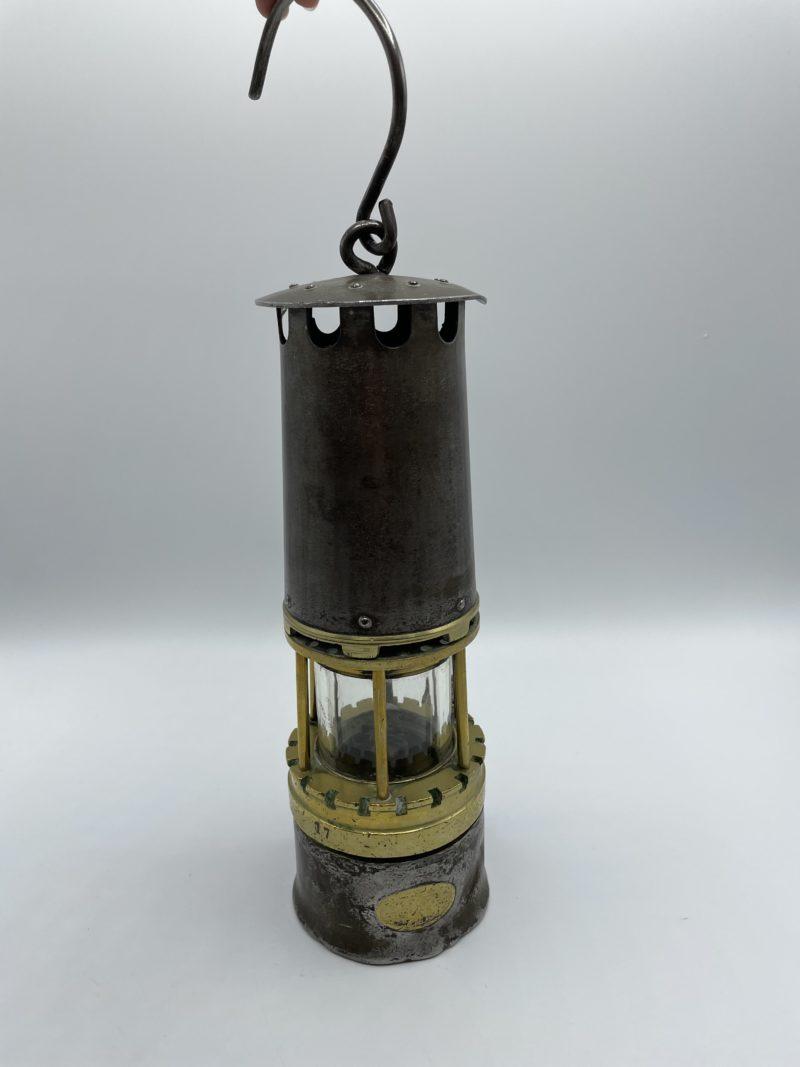 lampe mineur vintage ancienne verre baccarat laiton metal coron