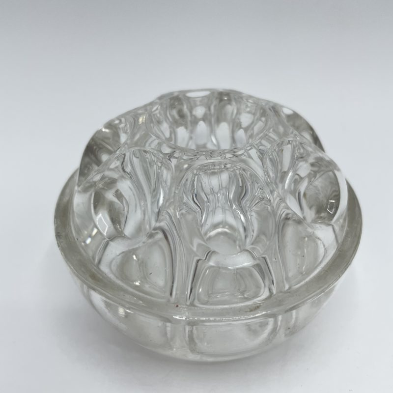 pique fleur verre boule transparent