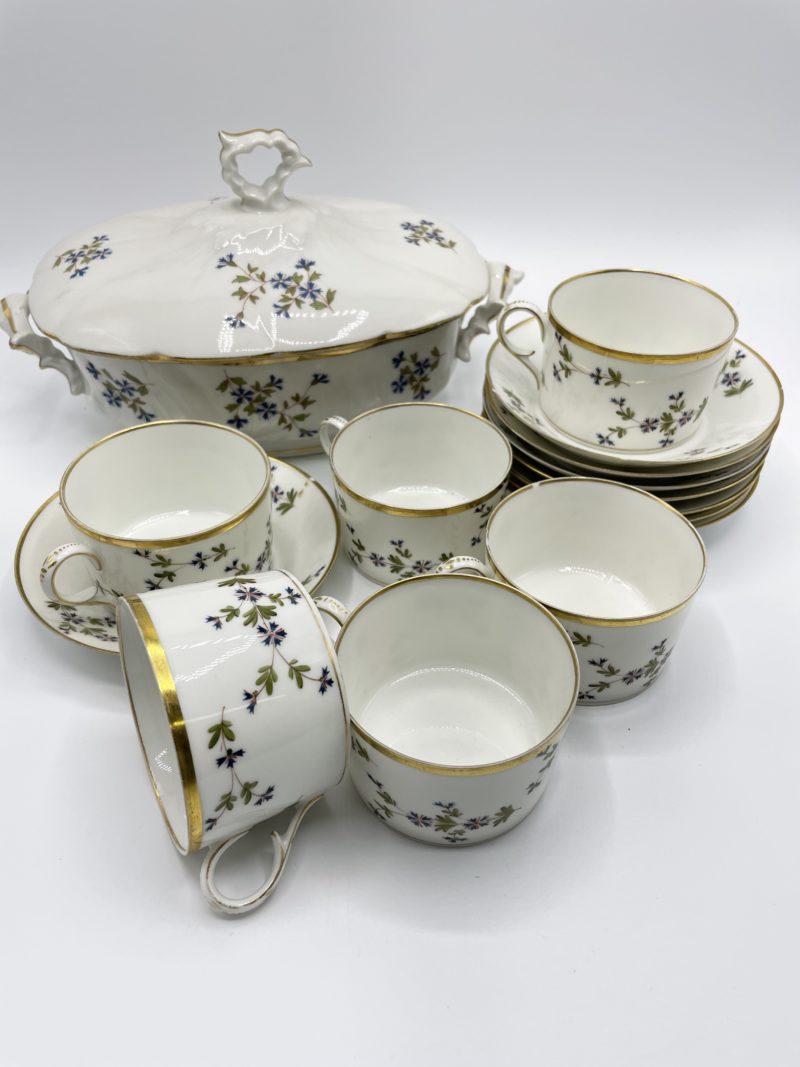service vintage porcelaine soupiere
