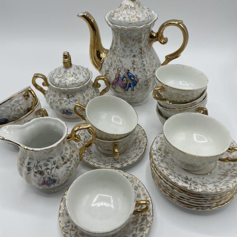 service the porcelaine italien rococo dore classique