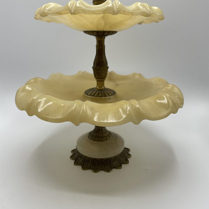 serviteur albatre laiton miquel alabastros vintage collection