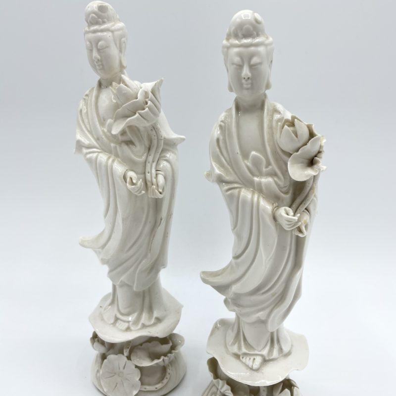 statue guanyin blanc chine porcelaine deco