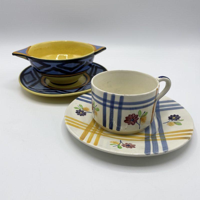 tasse bol vintage vaisselle depareillee henriot quimper porcelaine gien